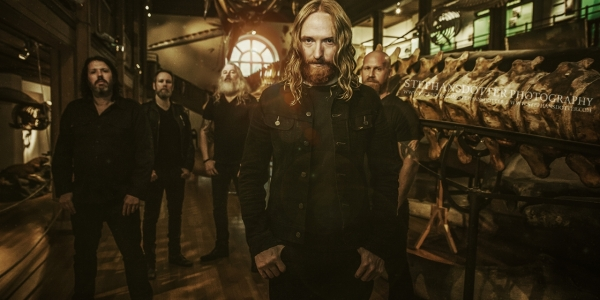 Dark Tranquillity promo shoot in the museum of natural history