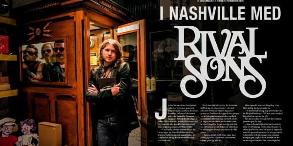 Rival Sons in Nashville feature article in Sweden Rock Magazine
