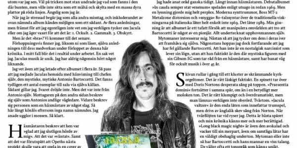 Mikael Åkerfeldt of Opeth reoccuring piece in every issue of Sweden Rock Magazine