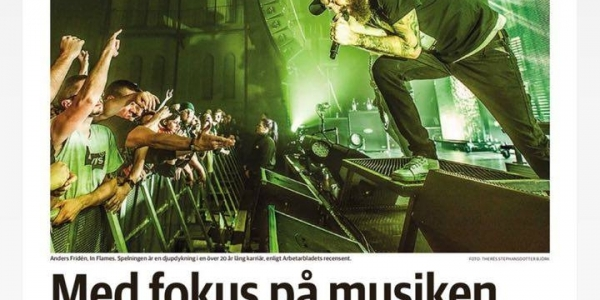 In Flames article and review, Arbetarbladet