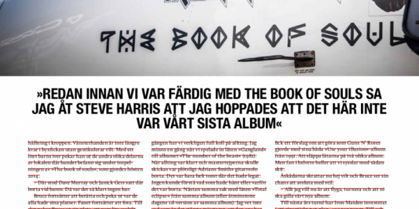 Iron Maiden Flight666 feature story Sweden Rock Magazine