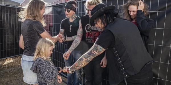 Sixx:A.M. meet & greet at Sweden Rock Festival 2016