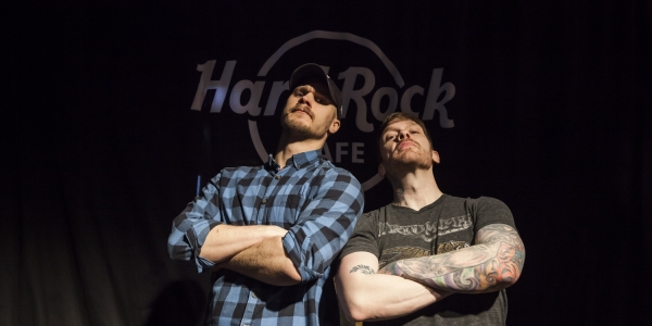 Shinedown meet & greet and listening session at Hard Rock Cafe 2018